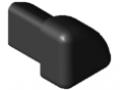 Abdeckkappe Schutzprofil 8 R16-90°, schwarz