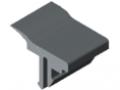 Panel-Clamping Strip 8 4-6mm, grey similar to RAL 7042