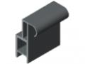 Door Lip Seal 8 - XMS, grey similar to RAL 7042
